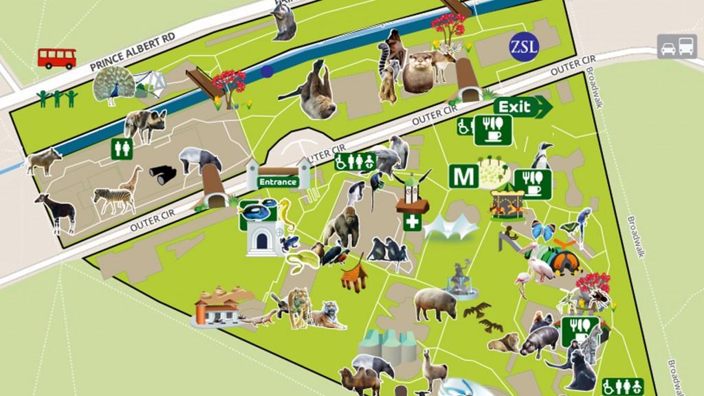 ZSL London Zoo map