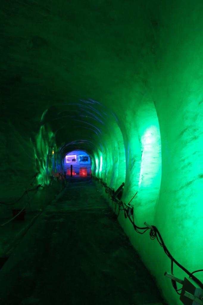 Ice cave of Mer de Glace glacier