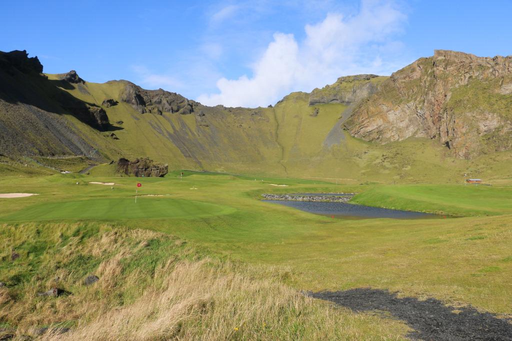 Herjólfsdalur campground and golf course