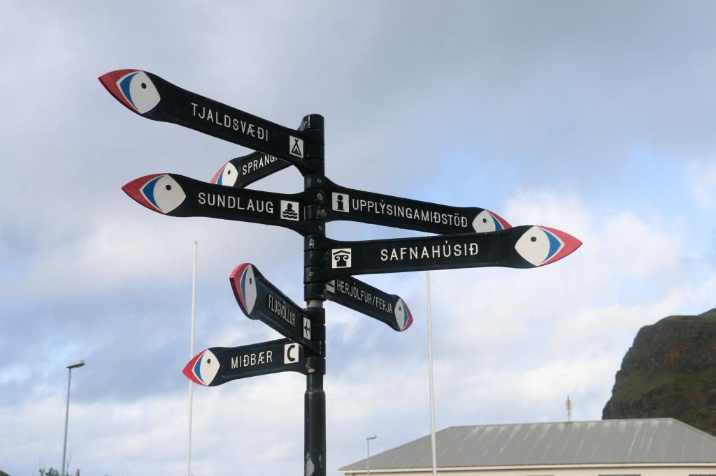 Street signs - Heimaey, Westman Islands, Iceland
