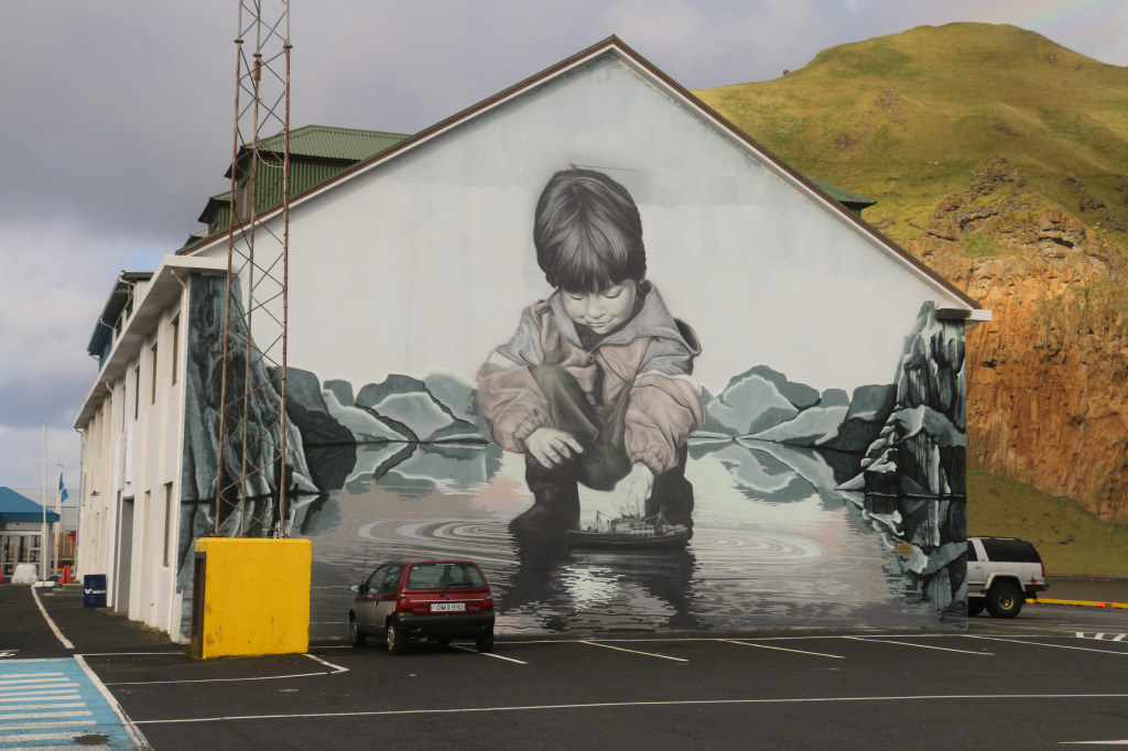Street art by the harbour