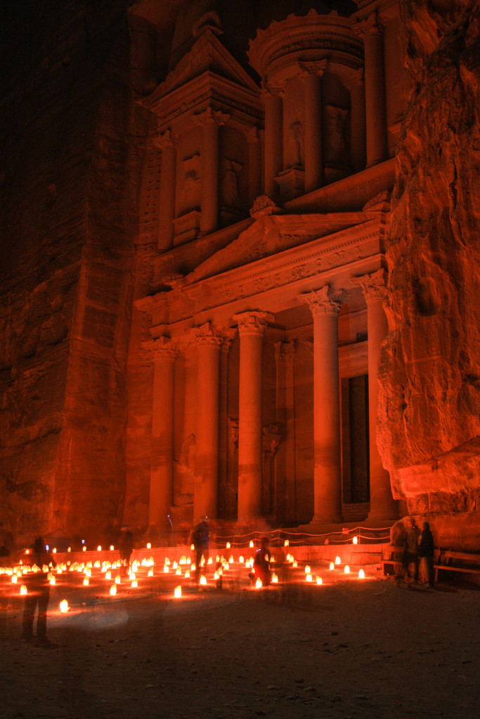 Al Khazneh, The Treasury at night
