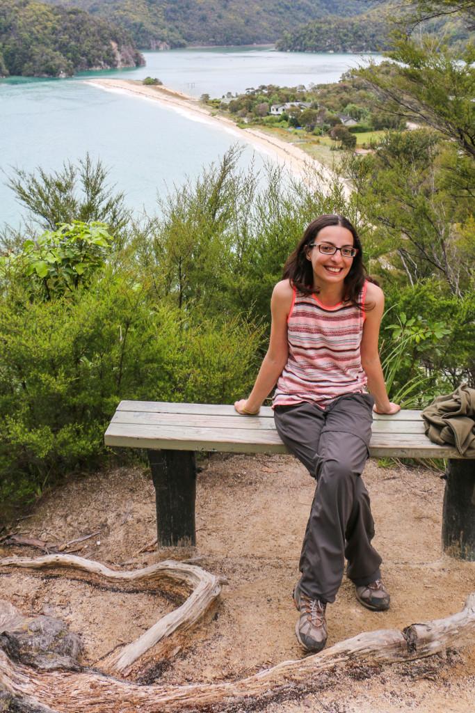 Cristina at Torrent Bay lookout