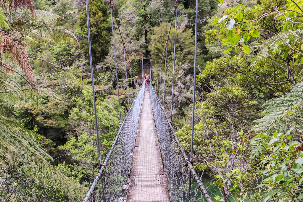 Falls river swing bridge