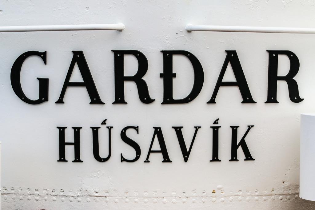 Our boat in Húsavík