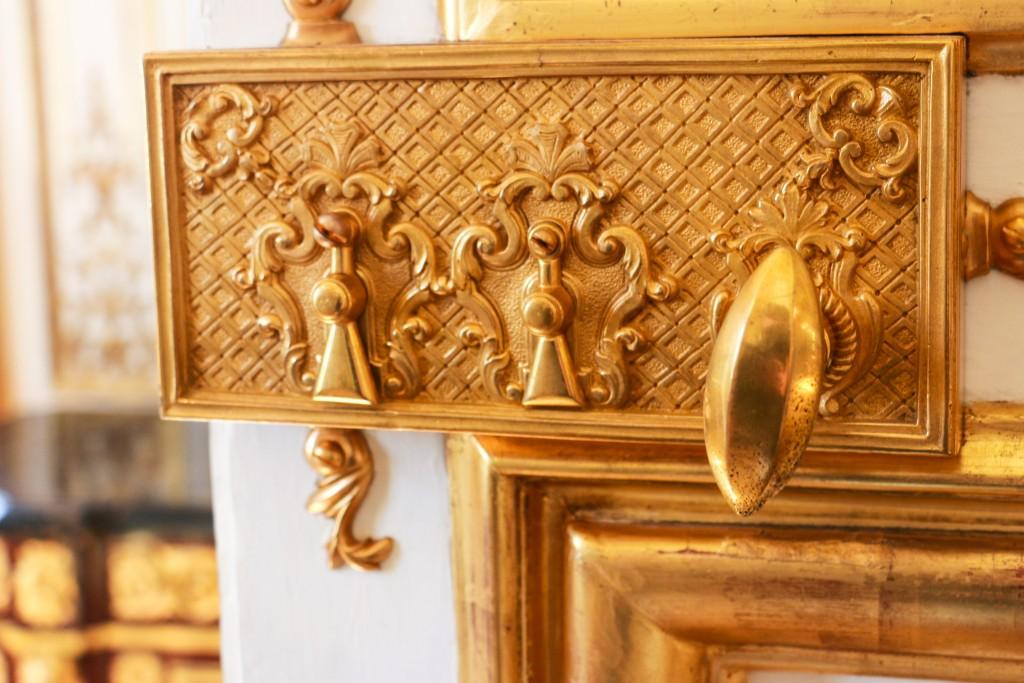 Detail of a golden knob