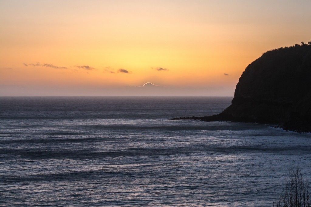 Sunset at Caloura beach