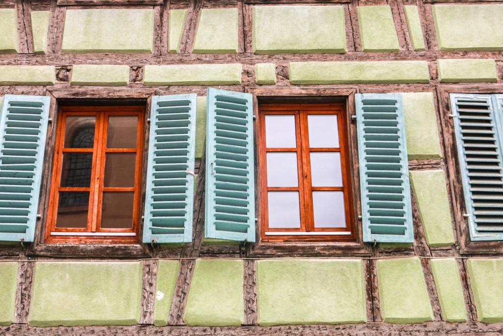 Colourful façades and windows