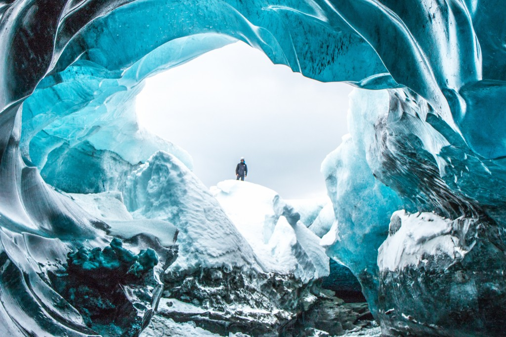 Ice cave from the inside out