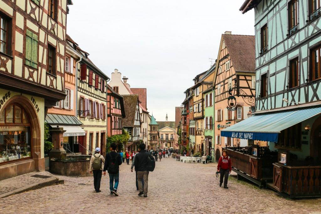Riquewihr's main street