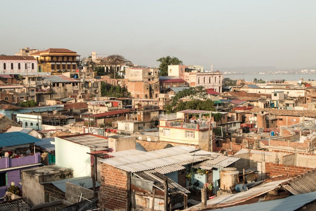 Santiago de Cuba from our rooftop terrace