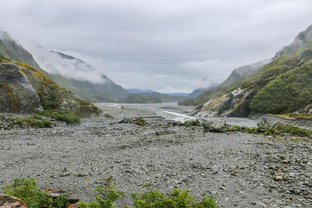Looking back towards Franz Josef glacier valley