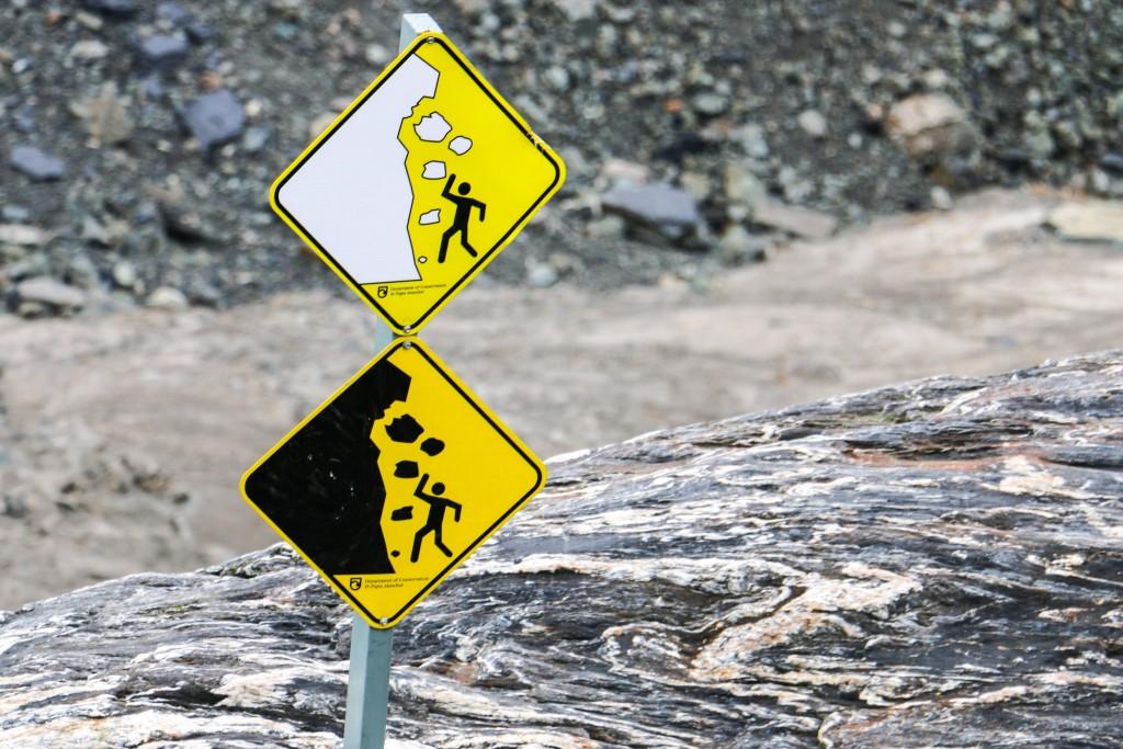 Fox glacier warning