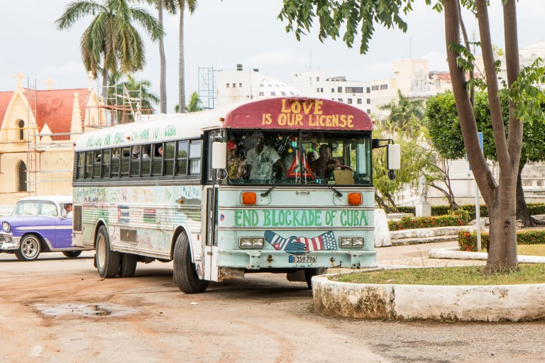 Driving in Cuba - Bus