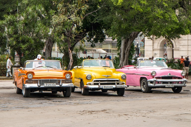 Driving in Cuba - Tourist cars