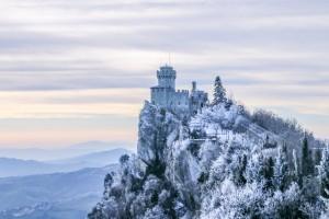 San Marino Cesta Tower Before Sunrise