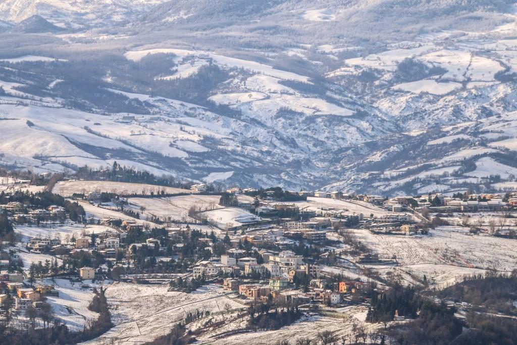 Snowy Italian Mountains