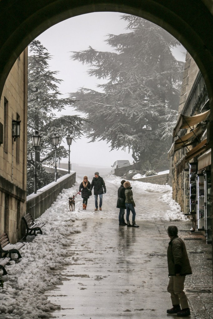 Winter on the streets of San Marino