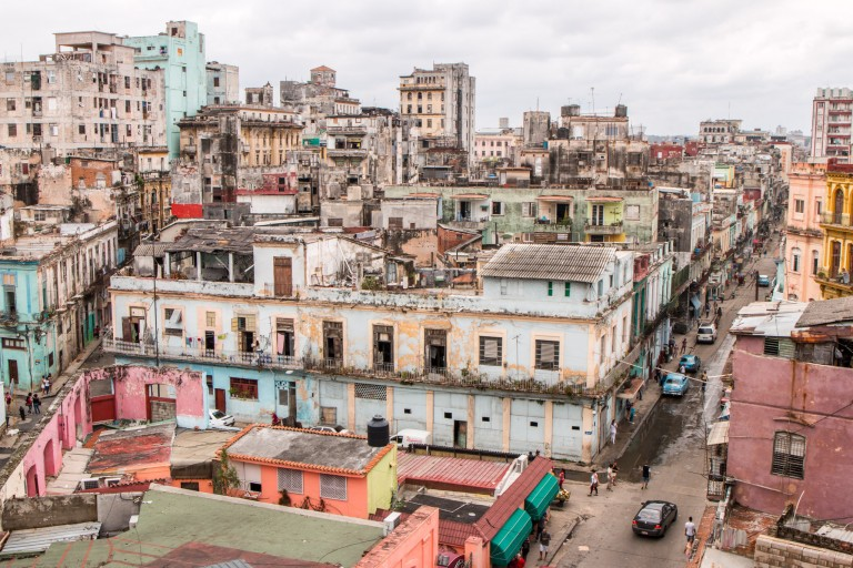 Rooftop view Havana Parque Central