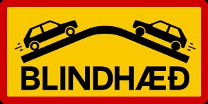 Icelandic traffic signs -Blindhæð