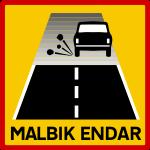 Icelandic traffic signs - Malbik Endar