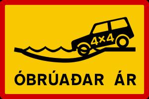 Icelandic traffic signs - Óbrúadar ár